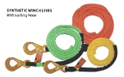 "Synthetic Winch Line With Self-Locking Hook; 3/8"" X 75'"