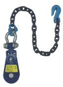 "Yoke Snatch Block W/Swivel Shackle& 30"" Chain& Grab Hk,4-1/2"" 4T"