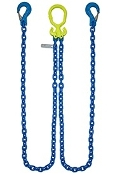 "GrabIQ, G100 3/8"", 8' Double Head Chain Assembly W/ Slip Hooks"