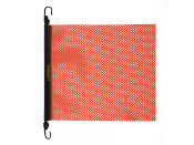 EZ Hook Warning Flag, Orange, 18 X 18