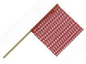 3/4″ Dowel Warning Flag, Red, Dozen