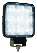 Square Clear LED Flood Light, 12-24 V, 1,500 Lumens