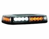Rec. Amber/Clear 24 LED Mini Lightbar, 12-24V