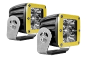 D Series, Dually-Flood Heavy Duty Yellow (Pair)