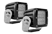 D Series, D2-Diffused Heavy Duty Black (Pair)