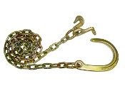 "5/16"", 10' G70 Chain w/ 8"" J Hook; Grab & T Hooks"