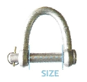 Quick Pin Web Shackle, 2""