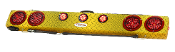 "48"" Wireless Truck Bar, Yellow Diamond Plate Finish"