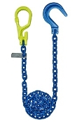 "GrabIQ, G100 1/2"", 12' Single Head Chain W/ Foundry Hook"