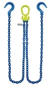 "GrabIQ, G100 1/2"", 12' Double Head Chain W/ Foundry Hook"