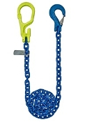 "GrabIQ, G100 1/2"", 16' Single Head Chain Assembly W/ Slip Hook"