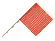 3/4″ Dowel Warning Flag, Orange, Dozen