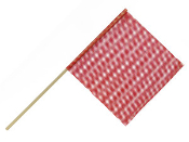5/8″ Dowel Warning Flag, Red, Dozen