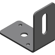 Buyers Stainless Steel Light Mount Bracket for Flood/Spot