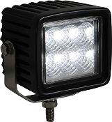 Square Clear LED Flood Light, 12-24V, 1,350 Lumens
