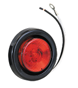 "2"" Round Light Marker, 1 LED. Red"