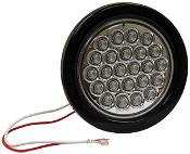 "4"" Round Back-Up 24 LED, Clear"