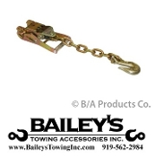 "2"" Wide Handle Ratchet W/ Chain & Clevis Grab Hook"