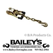 "2"" Gradual Release Rubber Ratchet W/ Chain & Clevis Grab Hook"