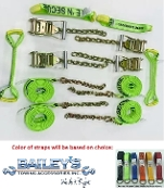 Diamond Weave Rollback Tie Down Kit, Chain Ends, 14' Straps