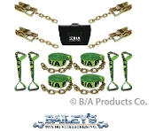 HI-VIZ Roll Back Tie-Down System With Chain Ends; 14' Straps